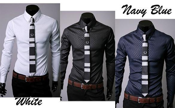 details about men button down casual shirts plaid tops dress shirts. Black Bedroom Furniture Sets. Home Design Ideas