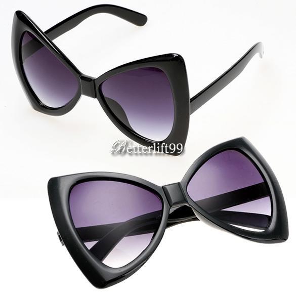 shades and glasses  Women Sunglasses Bowknot Frame Big Lens Eyewear Shades Glasses ...