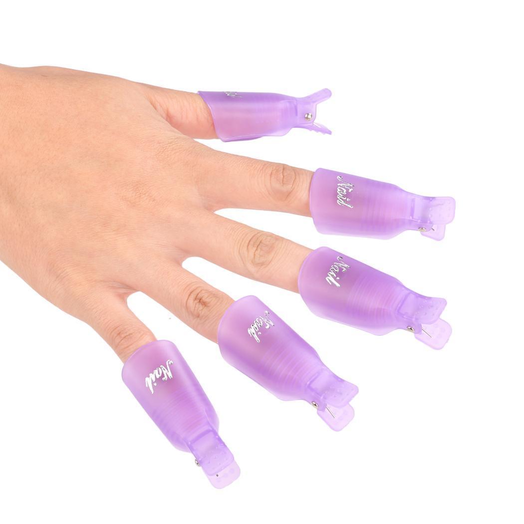 New 10PCS Finger Nail Art UV Gel Polish Remover Wrap