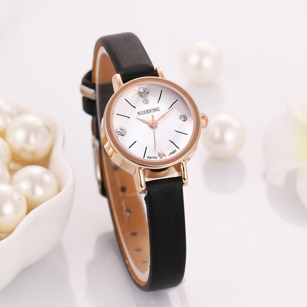 ca3c74fb291 Details about Women Fashion Synthetic Leather Band Round Analog Quartz  Wrist Watch OK 02